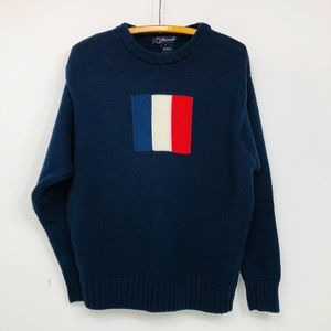 FACONNABLE Sweater Long Sleeve 100% Cotton Sz M